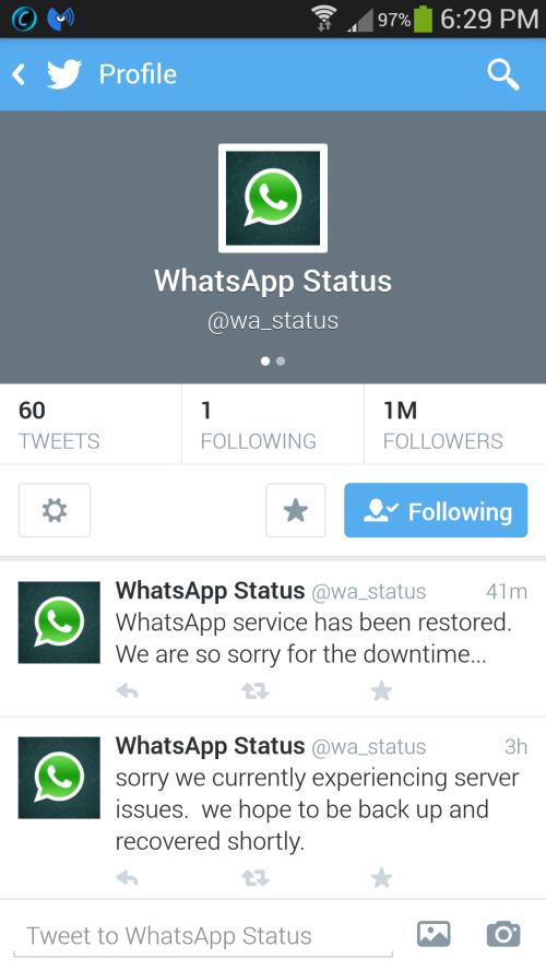 Whatsapp Suffers Worldwide Service Outage Update Majorgeeks