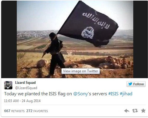 Sony hit with DDoS by self-proclaimed ISIS sympathizers