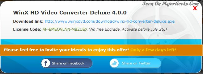 winx hd video converter deluxe license code