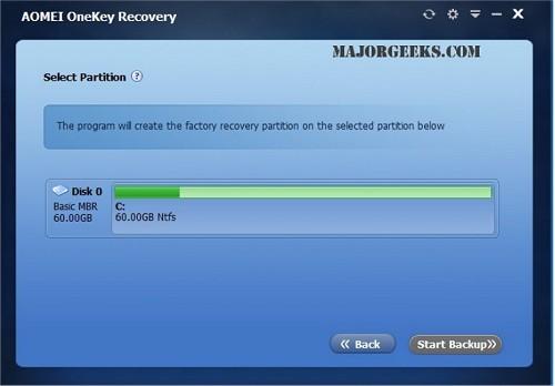 New on MajorGeeks: AOMEI OneKey Recovery - MajorGeeks