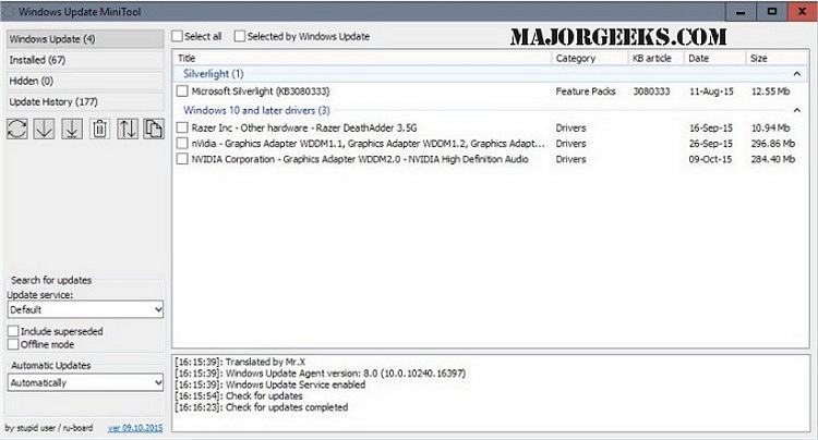 New On Majorgeeks Windows Update Minitool Majorgeeks