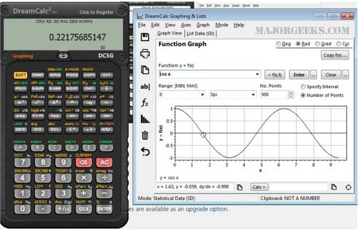 End behavior of a polynomial function: a graphing calculator.