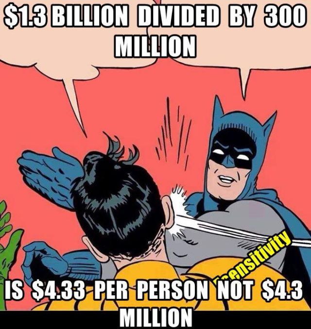 Can anyone divide 800 billion by 3 million?