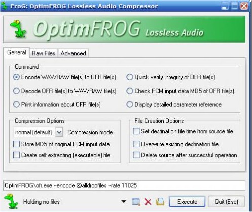 OptimFROG Permits Lossless Audio Compression - MajorGeeks