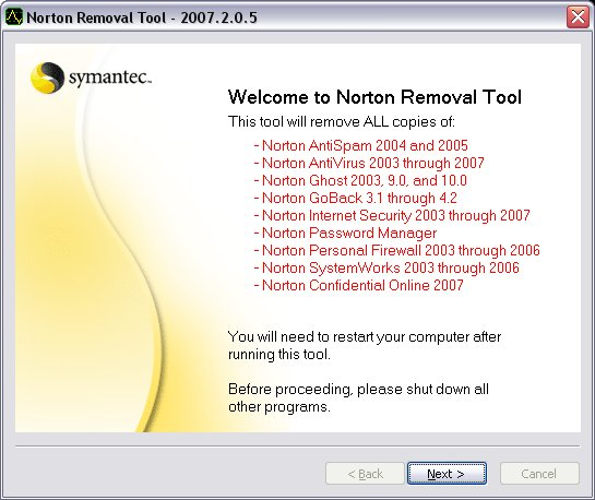 Norton Removal Tool 20...