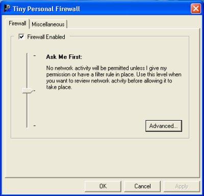 Tiny Personal Firewall v5.00.1218