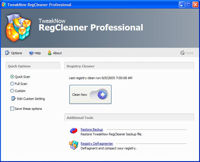 TweakNow RegCleaner Professional v2.9.9a (c) TweakNow Cracked.
